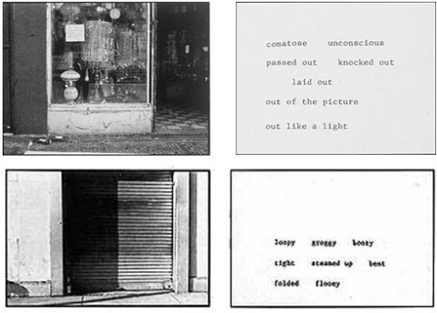 The Bowery In Two Inadequate Descriptive Systems 1974-75. (c) Martha Rosler.