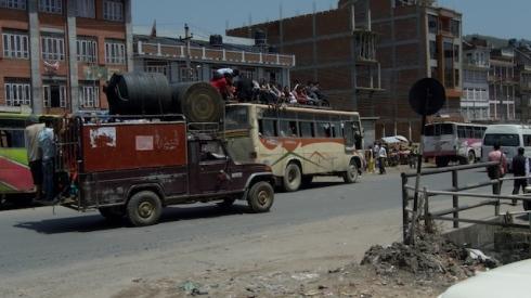 Banepa: Transport Nepali style. John Callaway (2010)