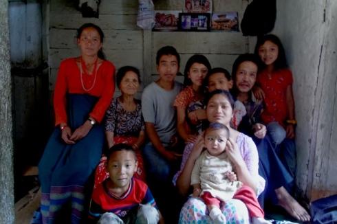 Family Portrait, Banepa. John Callaway 2010