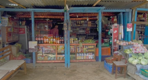 Roadside shop on the Arneko Highway, Nepal. John Callaway 2010