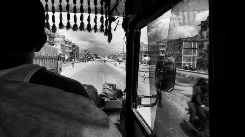 Arniko Highway from Kathmandu to Banepa. John Callaway 2010
