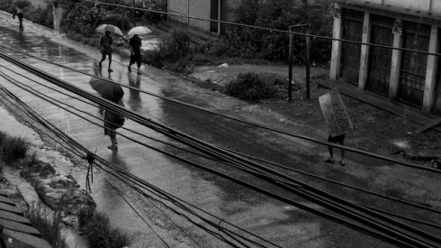 Monsoon rains outside my dhera. Banepa. John Callaway 2010