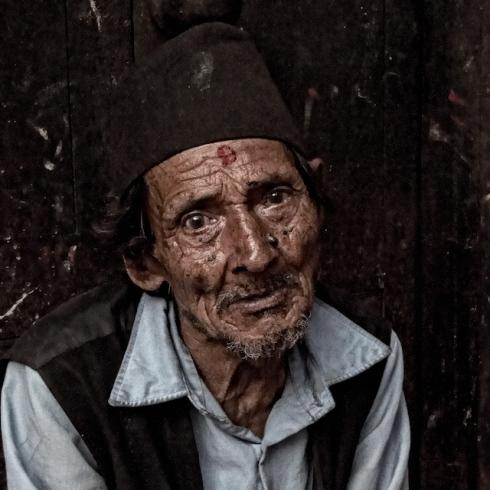 Old Man. Bhaktapur. John Callaway 2010