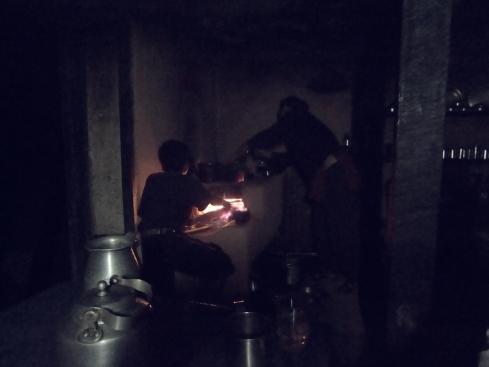 Bagkhor. Wood fire. John Callaway 2010
