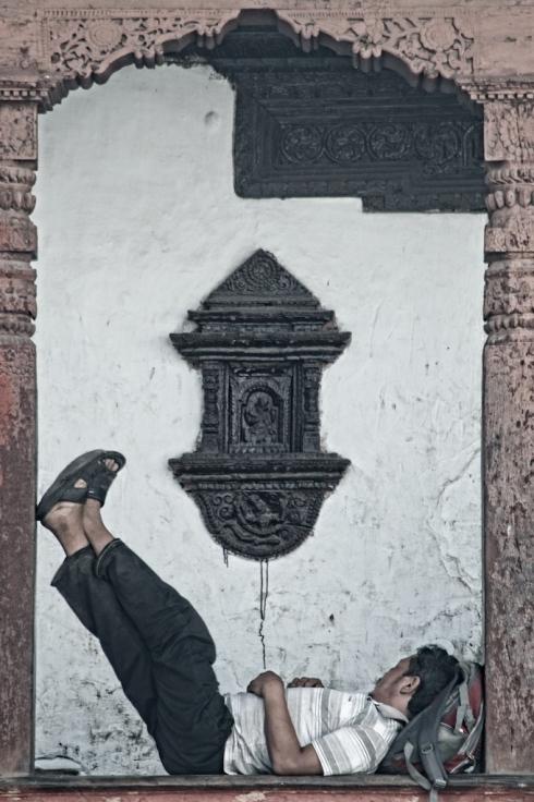 It's hard work living in Kathmandu. John Callaway 2011