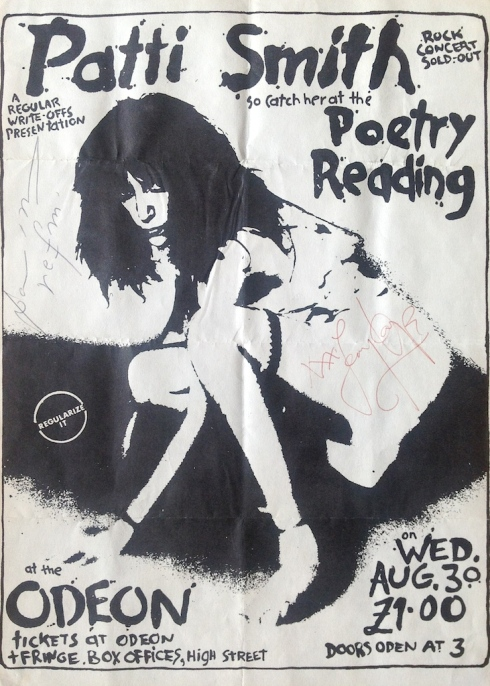 Patti Smith Poetry Reading. 30 August 1978