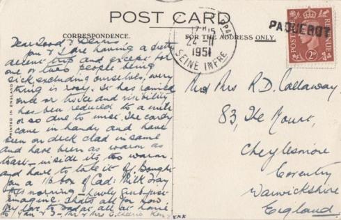 Postcard ... 1951