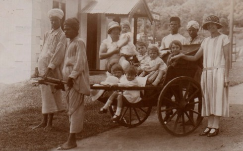 "The writing on the back reads ""Off to a picnic..... Wellington in the Nilgiris (June 1926)...we were grass widows at the time"""